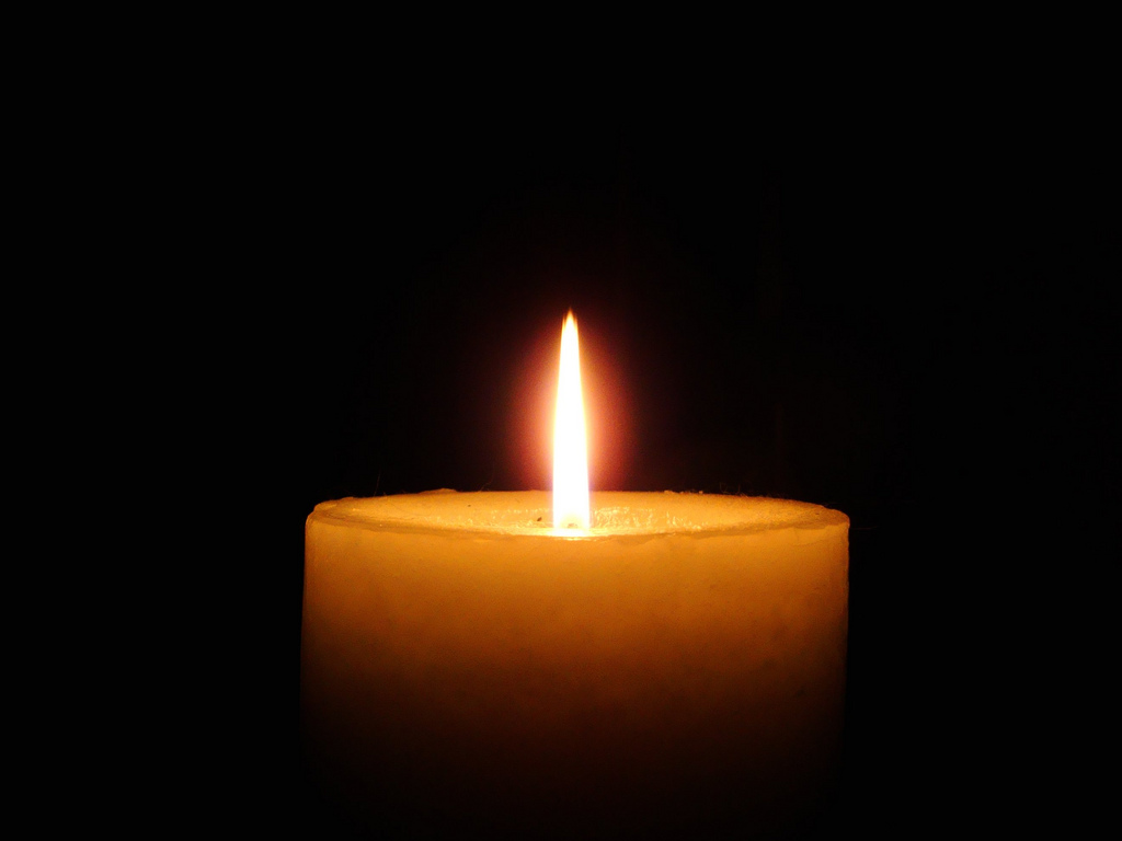 Image of burning candle